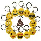 Emoji Emoticon Yellow Smiley Face Key Ring Chain   Kids Party Bag Novelty Gift