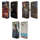 OFFICIAL LONELY DOG PORTRAITS LEATHER BOOK CASE FOR MICROSOFT NOKIA PHONES