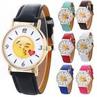 New Women Fashion Synthetic Leather Band Round Analog Quartz Wrist Watch N98B
