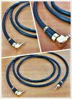 3.5mm Right angle to 3.5mm straight male audio aux cable carbon plug ITEM.022