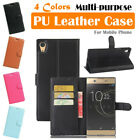 Sony Xperia XA Ultra Leather Case PSC Cover Skin Wallet Card Pouch Stand Folio