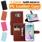 Samsung Galaxy S6 Edge / SM-G925 Leather Case PSC Cover Skin Wallet Stand Folio
