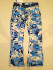 NWT Men's Imperious Light Blue Camouflage Camo Slim Fit Cargo Pants ALL SIZE