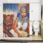 Shower curtain custom made design printing brightent Tiger & Woman XQ730