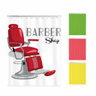 Shower curtain custom made design printing brightent Barber XQ805