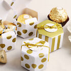 3/10/50 Pcs Chocolate Sweet Candy Gift Boxes Christmas Wedding Party Favour Bags