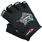 Outdoor Sports Cycling Equipment Bike Bicycle Half Finger Gel Short Gloves Black