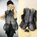 Women's Faux Fur Sleeveless Coat Winter Jacket Vest Gilet Tops Outwear Waistcoat