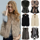 womens long winter coats - Women's Faux Fur Sleeveless Coat Winter Jacket Vest Gilet Tops Outwear Waistcoat