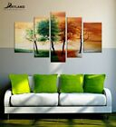 """Tree Wall Art Set Hand-painted Artwork Canvas Painting """"Four Seasons"""" Framed"""