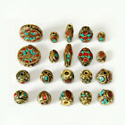 Charms Turquoise Tibetan Nepalese Beads Lapis Tribal Boho Connectors Loose Beads