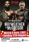 FLOYD MAYWEATHER v CONOR McGREGOR BOXING 28 POSTER PHOTO PRINT