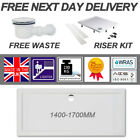 White Stone Shower Tray Rectangle Low Profile Slim 40mm High & 90mm FREE Waste