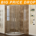 Quadrant Shower Enclosure Door + Tray Walk in Cubicle Corner 6mm Easyclean Glass
