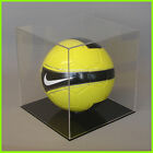 FOOTBALL DISPLAY CASE Full size 5 ball CLEAR BLACK/ WHITE Acrylic Perspex