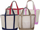 Large Natural Canvas Beach Tote, Nappy,  Shopping Bag