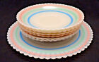 "Cremax Petalware Pastel Band by Macbeth Evans 6 Saucers 8"" Plate 7 Pieces"