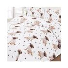 Dreamscene Pug Puppy Quilt Cover King & Double Dooner Cover