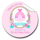1xA4 Sheet Personalised Princess Dress Birthday Party bags labels STICKERS