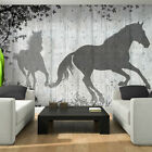 Photo Wallpaper HORSE TREES SHADOW IN GREY Wall Mural (3150VE)