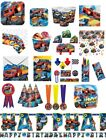 Blaze and The Monster Machines Party Bags Decoration Birthday Tableware