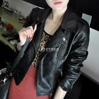 New Winter Women Motorcycle Leather Coat Jacket S-XXL size Diagonal DZ8801 01