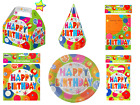 Happy Birthday Party Boxes Hats Invitations Serviettes Loot Bags Plates Gift Kid
