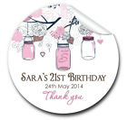Personalised BIRTHDAY PARTY party favours stickers labels mason jars branch