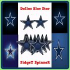 Dallas Blue Star Hand Fidget Spinner Stress Toy Adult Focus Adhd Metal