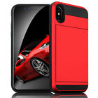 For Apple iPhone X 8Plus 6s 5s Wallet Case Credit Card ID Holder Slim Case Cover