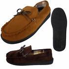 Mens Coolers Faux Suede Leather Moccasin House Slippers Moccasins Classic Gents