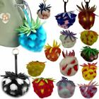 NEW WOMENS FAUX FUR FLUFFY FRUIT PINEAPPLE KEYRING KEYCHAIN PENDANT