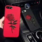 For Iphone 8 7 6 Luxury Fashion Rose Embroidery Cover Pretty Flower Soft PC Case