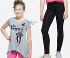 NWT JUSTICE Girls 8 10 Sparkle Fashion Swingy Top & Black Glitter Leggings Set