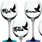 Personalised Name Water bottle Stickers Wine Glass Vinyl Halloween Sticker Decal