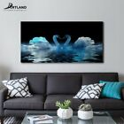Canvas Prints Animal Art ' Swan in Love ' Painting Wall Decorations for Bedroom