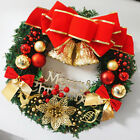Christmas Wreath Door Wall Ornaments Garland Red Bowknot Decoration Large 35cm