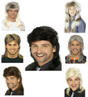 Mens Mullet Wig 70's 80's Assorted Colours