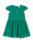 Girls dress NEXT baby 6 9 12 18 months 1.5 2 3 4 5 years NEW green RRP £24-£26