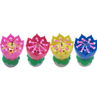 Birthday Musical Candle Flower Lotus Blossom Party Decoration All Colours