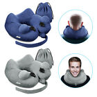 Soft Velvet Inflatable Travel Neck Pillow Cushion Support for Car Plane U Shaped