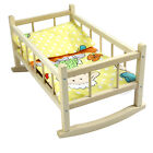 DOLLS ROCKING BED COT CRIB Wooden Toy Fits Up to 46cm 18