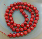 "Red Natural Coral Gemstone Round Spacer Beads 15.5"" 2,3,4,5,6,7,8,9mm"