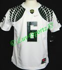 OREGON DUCKS Wings White NIKE FOOTBALL JERSEY #6 Nelson KIDS Preschool 4 or 5