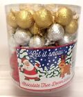Milk Chocolate Baubles Gold Red Silver Christmas Tree Decorations - 9 to 100xTub