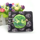 New Rick and Morty Coin Leather Wallet Short Bifold Purse Card Holder Gift