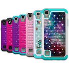 For LG Tribute HD / X Style Case Hybrid Diamond Bling Defender Protective Cover