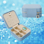 Leather Jewelry Box Organizer Travel Case Earring Ring Necklace Women Fashion