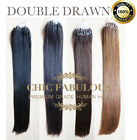 """0.5G/S DOUBLE DRAWN 16"""" 18"""" 20""""  22"""" EASY MICRO RING LOOP HUMAN HAIR EXTENSIONS"""