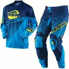 MSR AXXIS YOUTH KIDS MOTOCROSS KIT COMBO NAVY/TEAL YXL JERSEY Y26 PANT *RRP £67*